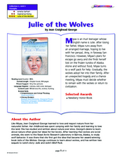 """Julie of the Wolves"" Lesson Plan"