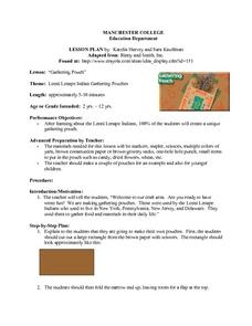 Gathering Pouch Lesson Plan