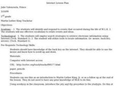 Martin Luther King Trackstar Lesson Plan