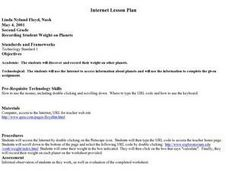 Recording Student Weight on Planets Lesson Plan