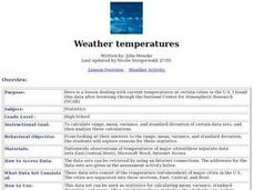 Weather temperatures Lesson Plan