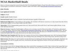 NCAA Basketball finals Lesson Plan