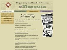 Negro Leagues Baseball eMuseum: Lesson Plan FAQs Lesson Plan