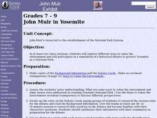 John Muir in Yosemite Lesson Plan
