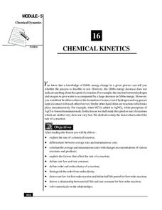 Chemical Kinetics Handouts & Reference