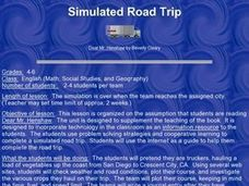 Simulated Road Trip Lesson Plan