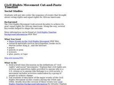 Civil Rights Movement Cut-and-Paste Timeline Lesson Plan