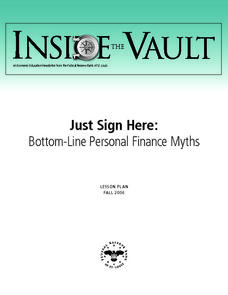 Bottom-Line Personal Finance Myths Lesson Plan