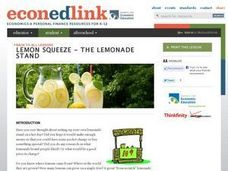 Lemon Squeeze - The Lemonade Stand Lesson Plan