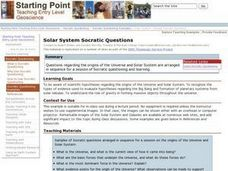 Solar System Socratic Questions Lesson Plan