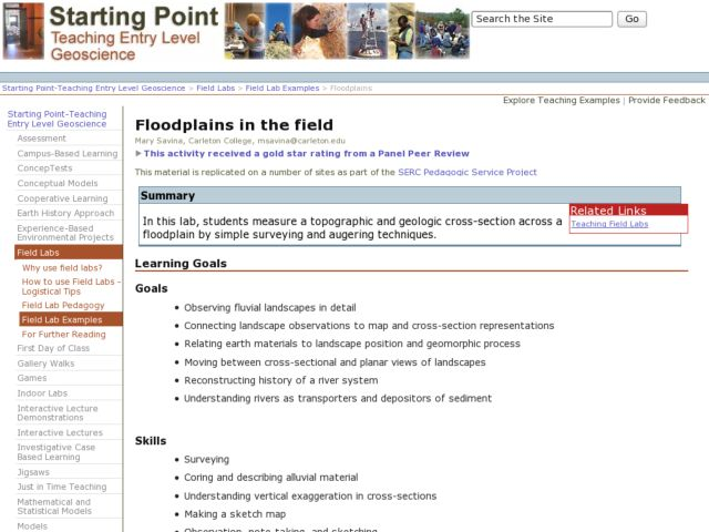 Floodplains in the Field Lesson Plan