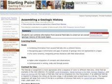 Assembling a Geologic History Lesson Plan