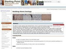 Building-Stone Geology Lesson Plan