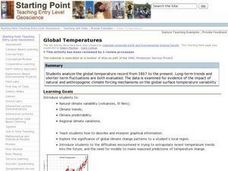 Global Temperatures Lesson Plan