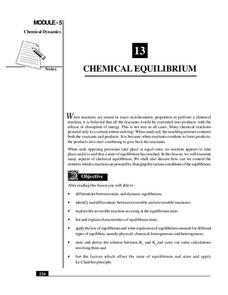 Equilibrium Lesson Plans & Worksheets | Lesson Planet