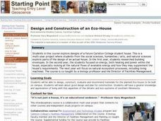 Design And Construction Of An Eco House Lesson Plan For
