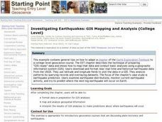 Investigating Earthquakes: GIS Mapping and Analysis Lesson Plan