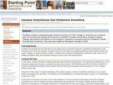 Campus Greenhouse Gas Emissions Inventory Lesson Plan