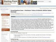Investigative Case - Protistan Tales of Atlantic White Cedar Swamps Lesson Plan