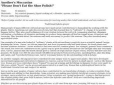 "Another's Moccasins ""Please Don't Eat the Shoe Polish!"" Lesson Plan"