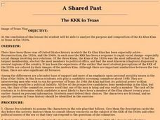 The KKK in Texas Lesson Plan