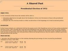 A Shared Past - Presidental Election of 1952 Lesson Plan
