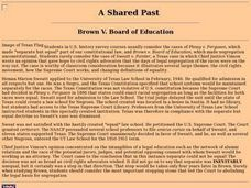 A Shared Past:  Brown v. Board of Education Lesson Plan
