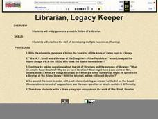 Librarian, Legacy Keeper Lesson Plan