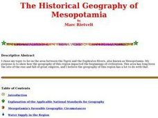 The Historical Geography of Mesopotamia Lesson Plan
