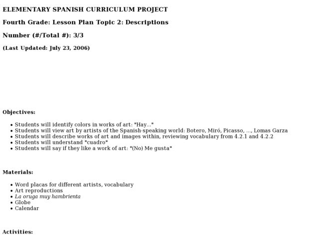 Spanish Greetings Lesson Plans Worksheets Lesson Planet
