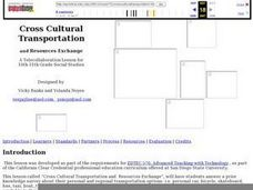 Cross Cultural Transportation and Resources Exchange Lesson Plan