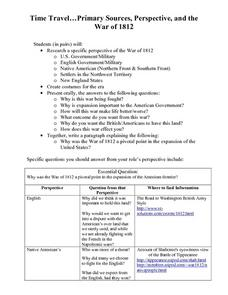 War of 1812 in the Old Northwest Territory Lesson Plan