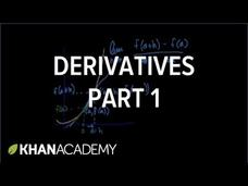Calculus: Derivatives 1 Video