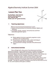 Relating Algebra to Geometry Lesson Plan