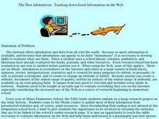 Tracking down Good Information on the Web Lesson Plan