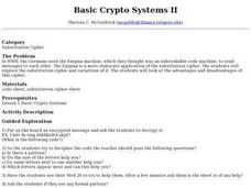 Basic Crypto Systems II Lesson Plan