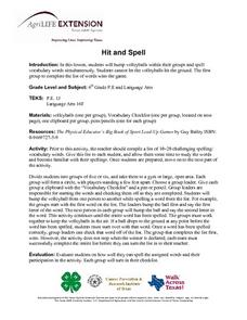 Hit and Spell Lesson Plan