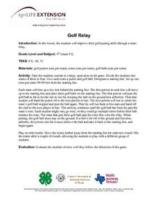 Golf Relay Lesson Plan