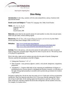 Dice Relay Lesson Plan