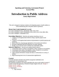 Introduction To Public Address Lesson Plan