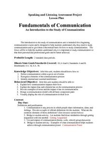 Fundamentals Of Communication Lesson Plan