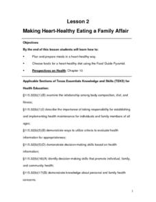 Making Heart-Healthy Eating a Family Affair Lesson Plan