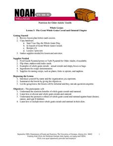 The Great Whole Grain Cereal and Oatmeal Chapter Lesson Plan