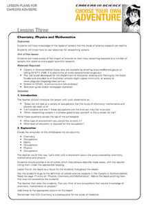 Careers in Science Lesson Three Lesson Plan