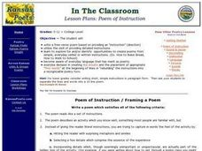 Poem of Instruction Lesson Plan