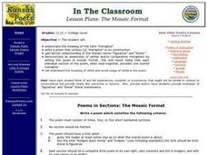 Poems in Sections: The Mosaic Format Lesson Plan