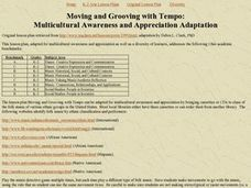 Moving and Grooving with Tempo Lesson Plan