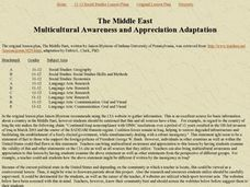 The Middle East Multicultural Awareness & Appreciation Adaptation Lesson Plan