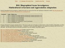 BSI: Biographical Scene Investigators Lesson Plan