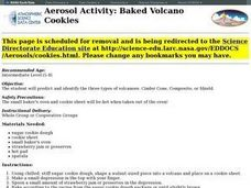 Aerosol Activity: Baked Volcano Cookies Lesson Plan